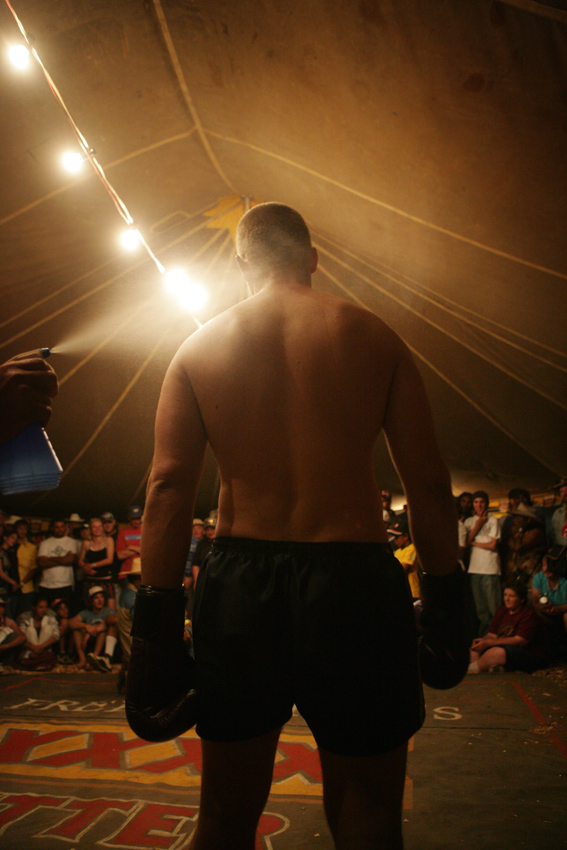 Fred Brophys' Boxing Tent. photo: Russell Shakespeare