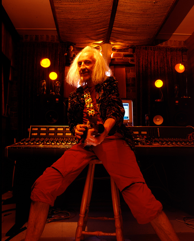 the Artist Daevid Allen photographed in his studio in Northern NSW by Russell Shakespeare