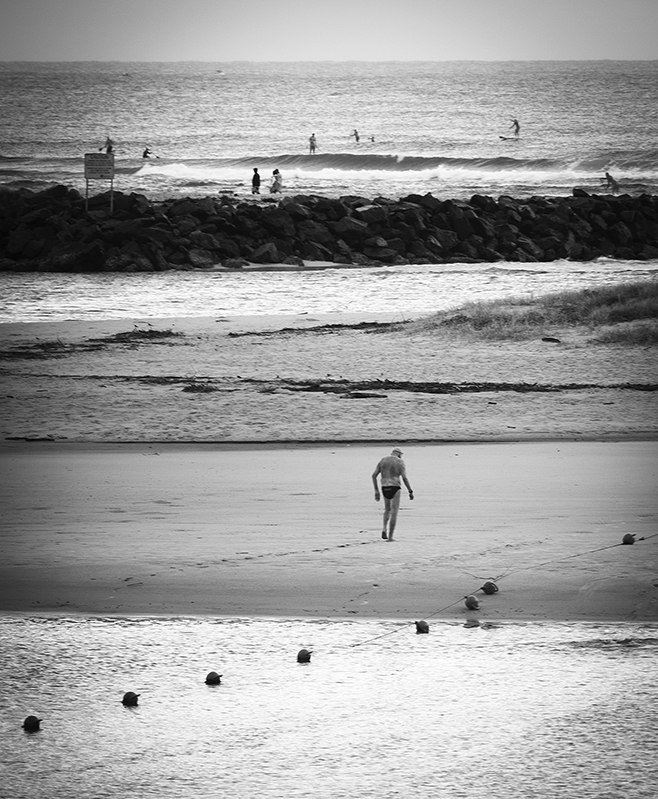 The swimmer after a long session in Currumbin Creek. Qld, Australia. photo copyright: Russell Shakespeare