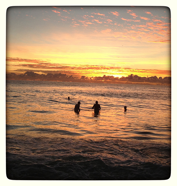 Sunrise Swimmers, Currumbin Beach. photo copyright: Russell Shakespeare