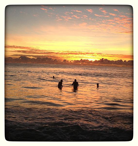 Sunrise Swimmers, Currumbin Beach. photo copyright: Russell Shakespeare
