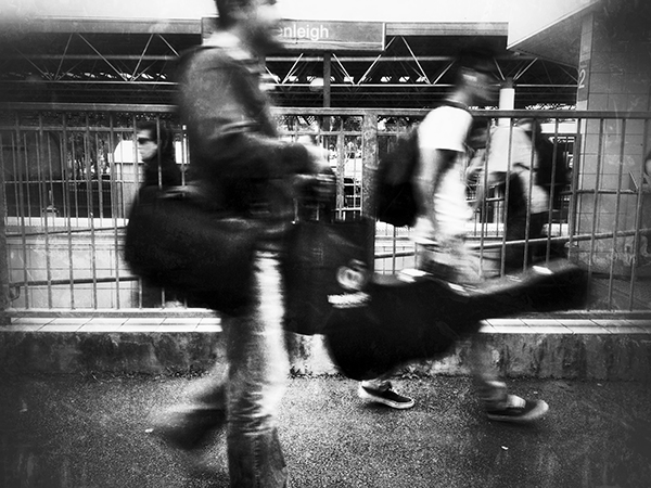 "from the series ""The Commute"" Beenleigh Station. photo copyright: Russell Shakespeare"