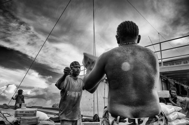 """Workers"" Munda, Soloman Islands. photo : Russell Shakespeare"